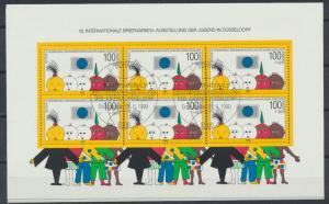 Bund Block 21 Briefmarkenausstellung Jugend Kinder Düsseldorf Ersttag-ST EEST