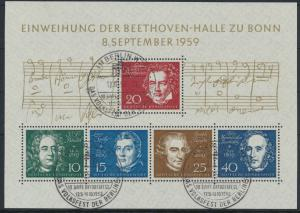 Bundesrepublik Block 2 Einweihung Beethovenhalle Bonn 1959 SSt Berlin 10 Jahre