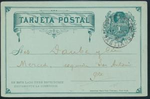 Chile Ganzsache Postkarte P 6 1c grün rs m. privatem Zudruck Europäischer Garten