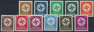 Deutsches Reich Dienstmarken 132-142 ungebraucht