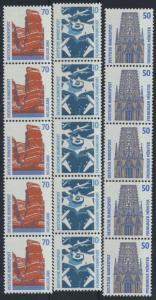 Bund Rollenmarken 5er Streifen Sehenswürdigkeiten 1340 1347 1469 A v R II