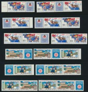 DDR Zusammendrucke aus 1984 ex 2864-2904 postfrisch Kat.-Wert 46,50