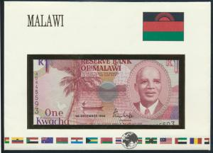 Geldschein Banknote Banknotenbrief Malawi Afrika Schein 1 Kwacha P 23b