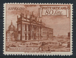 Vatikan 160 Basiliken 80 Lire 1949 postfrisch