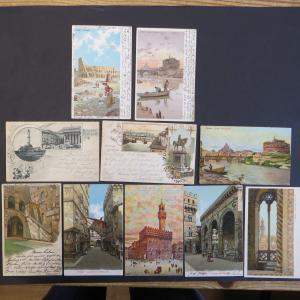 Ansichtskarte Italien schönes Lot von 10 Karten Künstler meist Lithos 1897-1908
