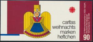 Caritas Weihnachtsmarkenheftchen 1487 Kunsthandwerk postfrisch 1990