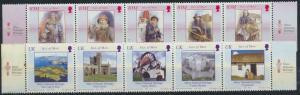 Isle of Man 1143-1152 2 Fünferstreifen Nationales Erbe ** 2004