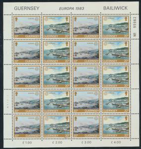 Guernsey 267-268 Zusammendruck Bogen Große Werke des menschlichen Geistes **