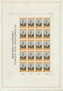 Guernsey Kleinbogen 161-162 Baudenkmäler ** 1978