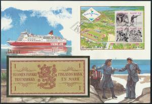 Geldschein Banknote Banknotenbrief Äland 1991 schön und exotisches Motiv