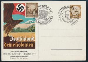 Reich Privatganzsache PP 122 C 68 Kolonien Propaganda 2 SST Dresden Philatelie
