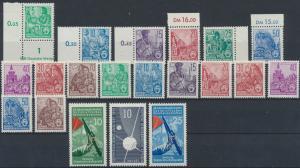 DDR Jahrgang 1957 Luxus postfrisch MNH komplett  Kat 64,00