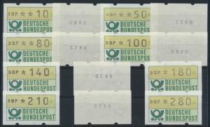 Bund Automatenmarken ATM Nr. 1.1 hu VS 1 Zählnummer postfrisch Emblem Bundes -