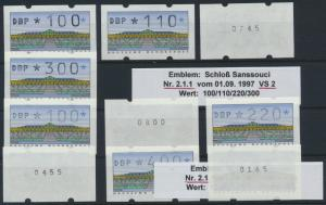 Bund Automatenmarke ATM Nr. 2.1.1 VS 2/3 mit Zählnummer postfrisch Postemblem