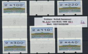 Bund Automatenmarken ATM  Nr. 2.2.3 VS 1/2 Zählnummer postfrisch Postemblem