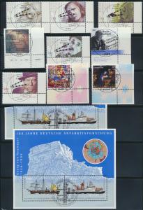 BRD Bogenecke Eckrand ex. Jahrgang 2001 zentraler Ersttagsvollstempel unten