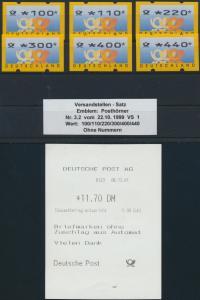 Bund Automatenmarken ATM 3.2  Versandstellensatz VS1 Luxus postfrisch MNH 100,-