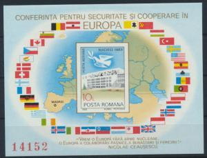 Rumänien Block 196 postfrisch - KSZE 1983