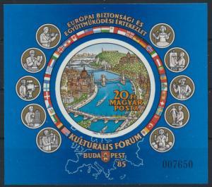Ungarn Block 180 B postfrisch - Kultrurforum der KSZE Budapest 1985
