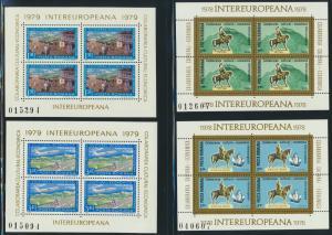 Rumänien Jahr 1976-1989 - 28 Blockausgaben INTEREUROPEANA  postfrisch