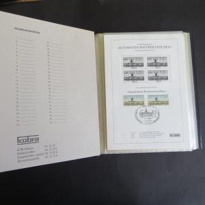 Berlin Sammlung Schwarzdruck Automatenmarken 4.5.1987 10-300 Pf