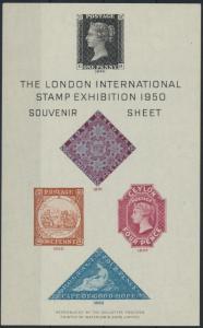 Großbritannien The London International Stamp Exhibition Souvenir Sheet 1950