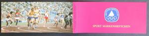 Sport Markenheftchen 1979 Staffellauf postfrisch