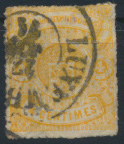 Luxemburg 14 gestempelt - 4 C Freimarke Staatswappen Kat.-Wert 220,00