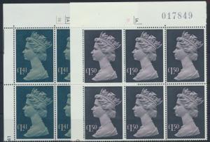 Großbritannien 1043 + 1084 6er Block Bogenecke Königin Elizabeth II Kat 108,-++