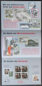 Deutsche Post Meilensteine deutscher Geschichte Ludwig Erhard Viererblock SST