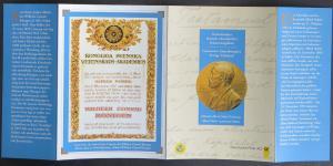 Gemeinsames deutsch-schwedisches Erinnerungsblatt 100 Jahre Alfred Nobel SST