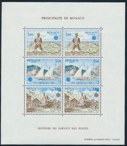 Monaco Block 15 postfrisch Europa 1979 Geschichte des Post- u. Fernmeldewesens