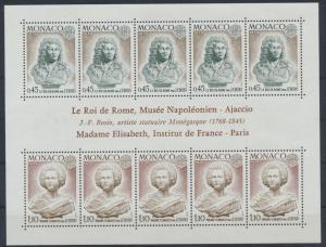Monaco Block 7 postfrisch - Europa 1974 Skulpturen