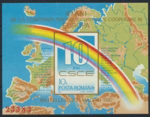 Rumänien Block 190** - 10 Jahre KSZE in Europa 1982