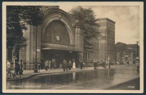 Ansichtskarte Kattowitz Katowice Bahnhof Feldpost II. WK ab Muhlhausen Elsass
