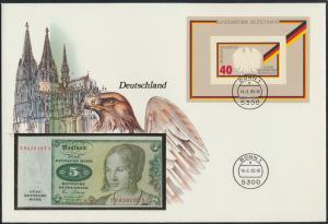 Geldschein Banknotenbrief  Germany tolles exotisches Motiv Vögel Adler Dom