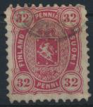 Finnland 18 A x gestempelt - 32 Penni Freimarke  Wappen