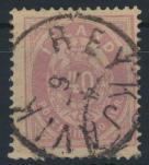 Island 15 A gestempelt - 20 Aurar Freimarke Ziffern mit Krone 1882
