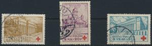 Finnland 173-175 gestempelt - Rotes Kreuz Helsinki