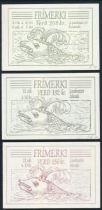 Island Markenheftchen 1-3 postfrisch - Figuren aus dem Staatswappen komplett