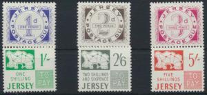 Jersey P 1-6 postfrisch - Portomarken 1969