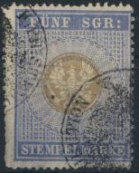 Preussen Stempelmarke 5 Sgr gestempelt