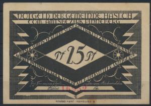 Notgeldschein Stadt Hasloh 25Pf 1920 Grabowski 584.2 großer Schein
