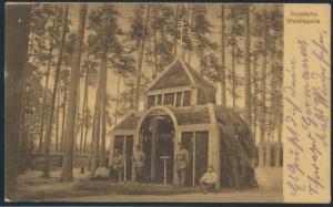 Ansichtskarte Rußland Waldkapelle Feldpost I. WK KD.Feldpoststation Nr. 166