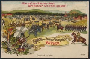 Ansichtskarte Litho Truppenübungsplatz Bitsch nach Frintrop 1913