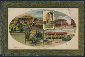 Ansichtskarte Litho Feldpost Bitsch nach Solingen 1915 Kaserne Preussen Stein