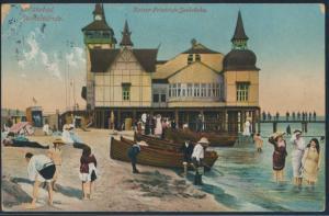 Ansichtskarte Ostseebad Swinemünde nach Schweinsberg Kaiser Friedrich Seebrücke