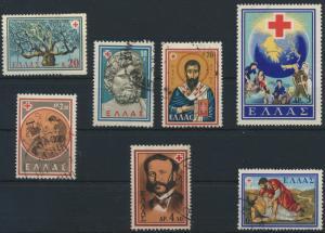 Griechenland 714-720 gestempelt Internationaler Kongreß des Roten Kreuzes