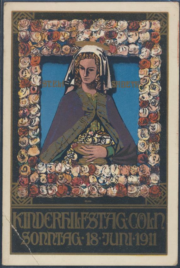 Ansichtskarte Jugendstil Kinderhilfstag 1911 St. Elisabeth  0