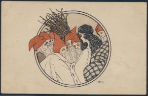 Ansichtskarte Jugendstil Art Nouveau Künstler NH's